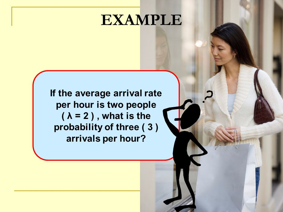 If the average arrival rate probability of three ( 3 )