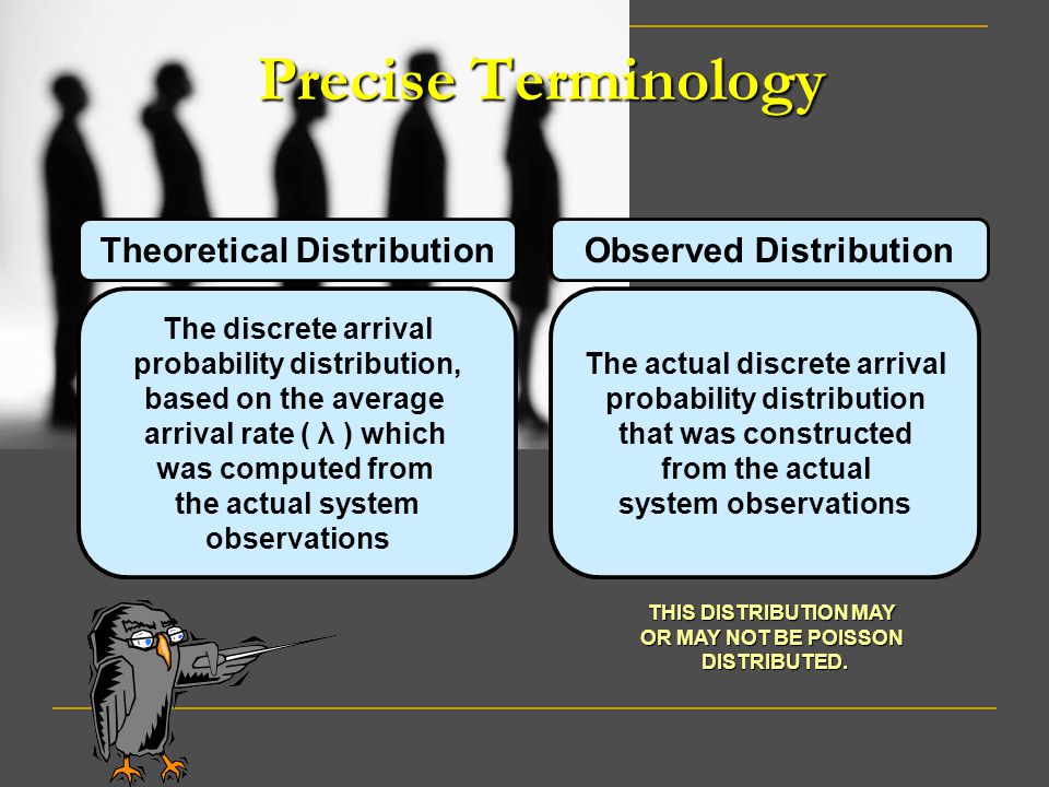Precise Terminology Theoretical Distribution Observed Distribution