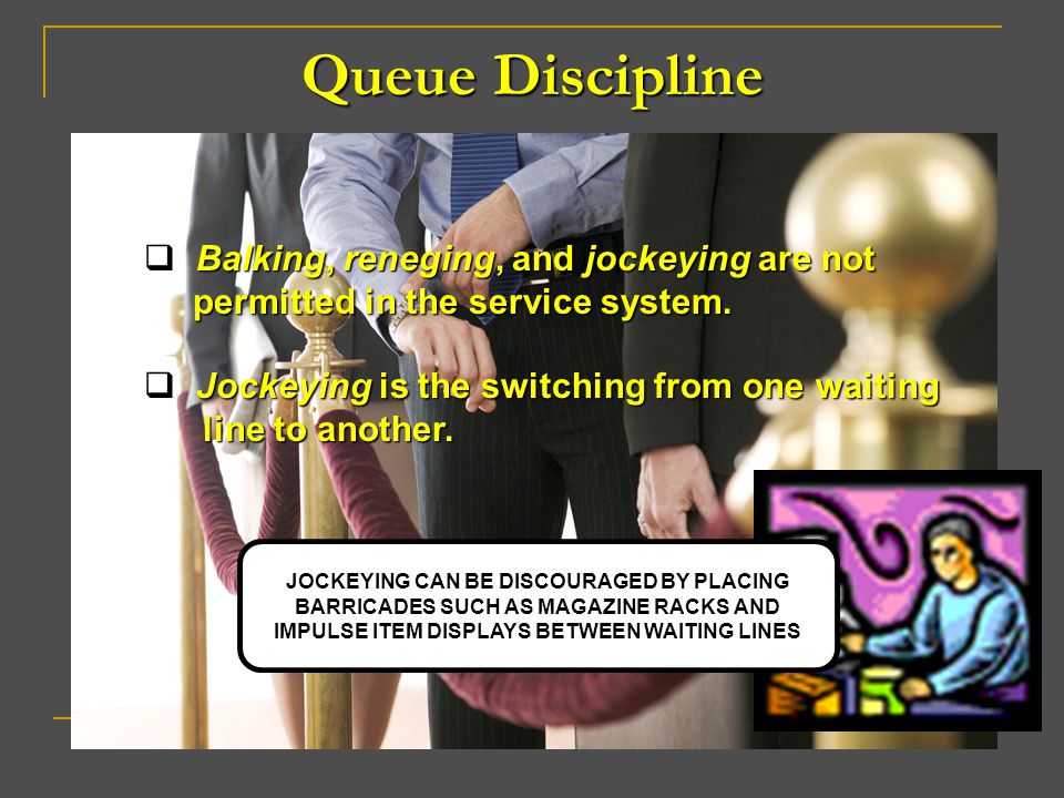 Queue Discipline Balking, reneging, and jockeying are not