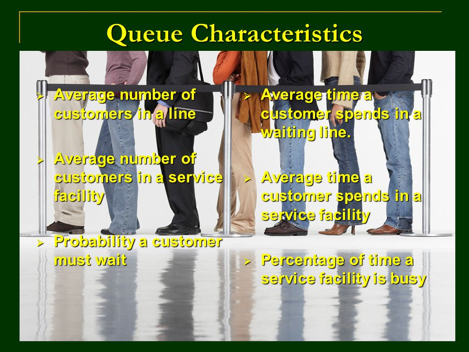 Queue Characteristics