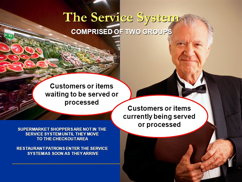 The Service System COMPRISED OF TWO GROUPS Customers or items