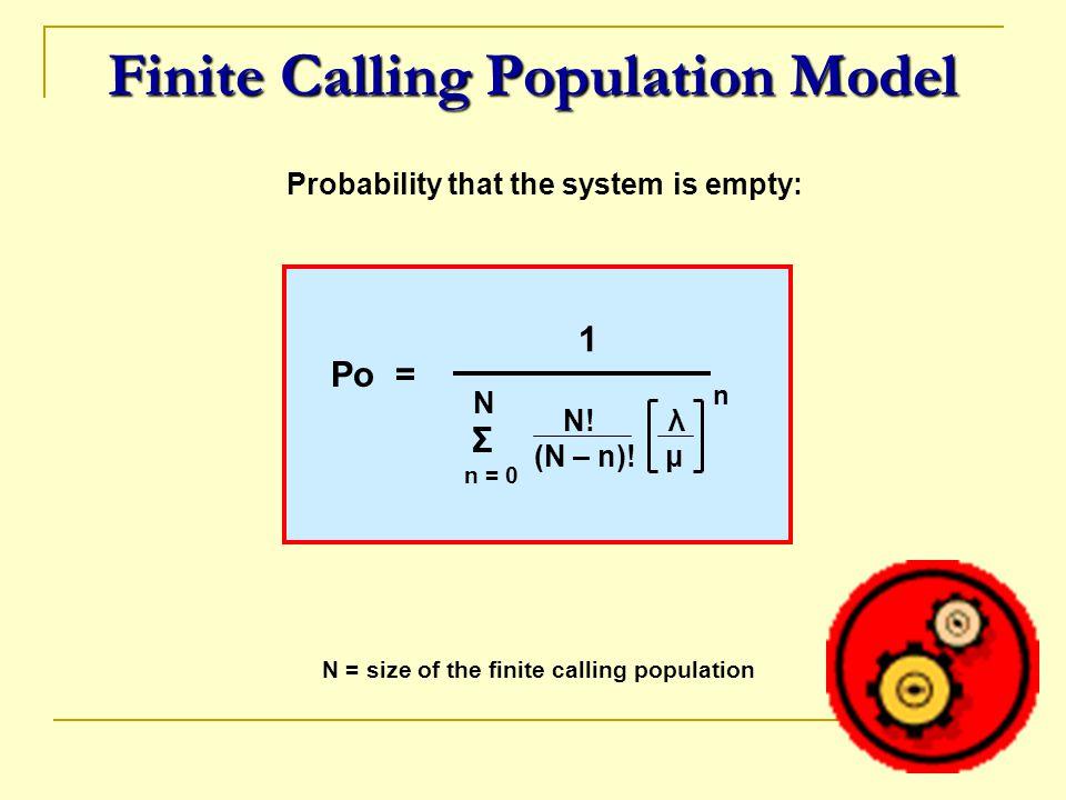 Finite Calling Population Model