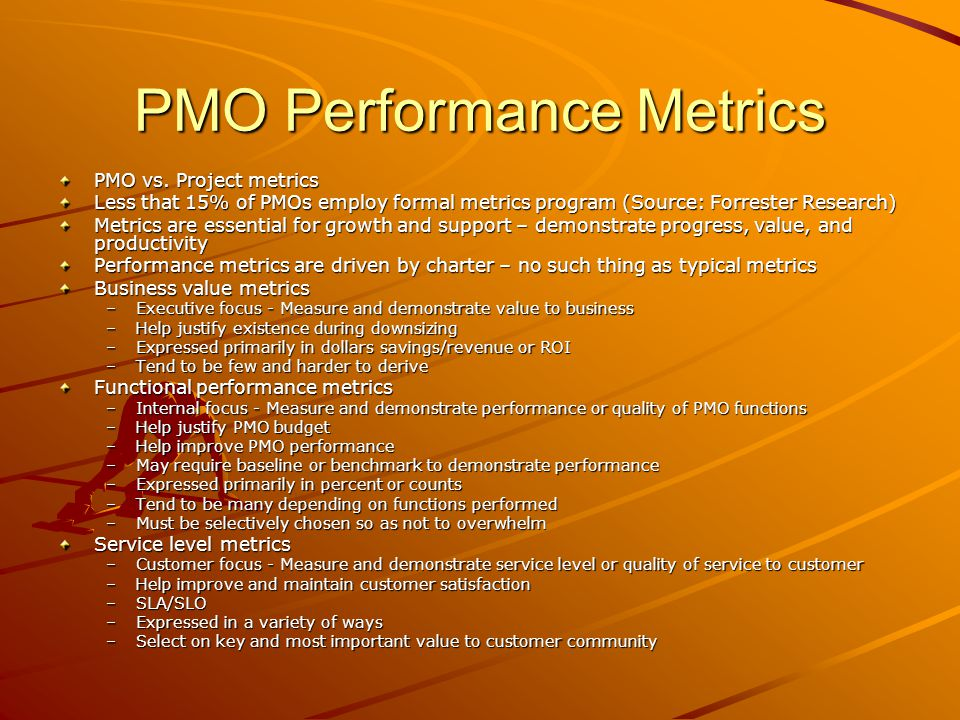 PMO Performance Metrics