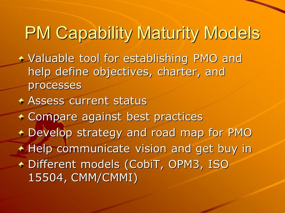 PM Capability Maturity Models