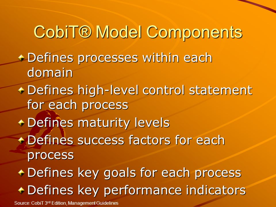 CobiT® Model Components