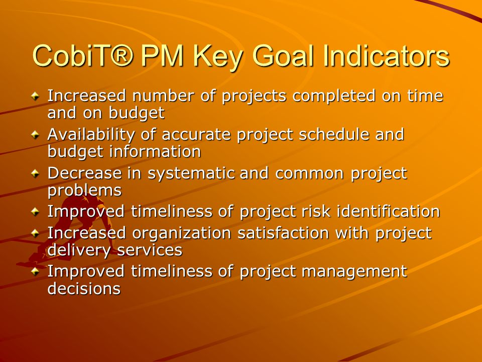CobiT® PM Key Goal Indicators
