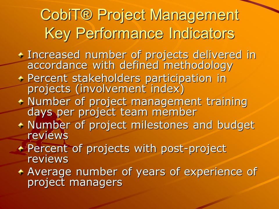 CobiT® Project Management Key Performance Indicators
