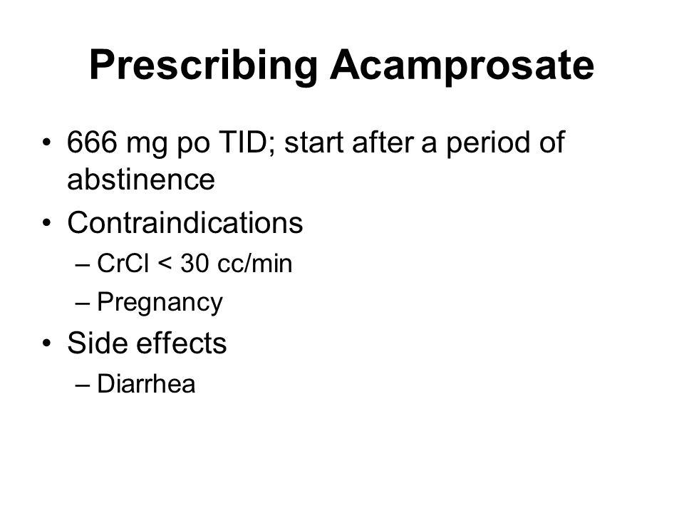 Prescribing Acamprosate