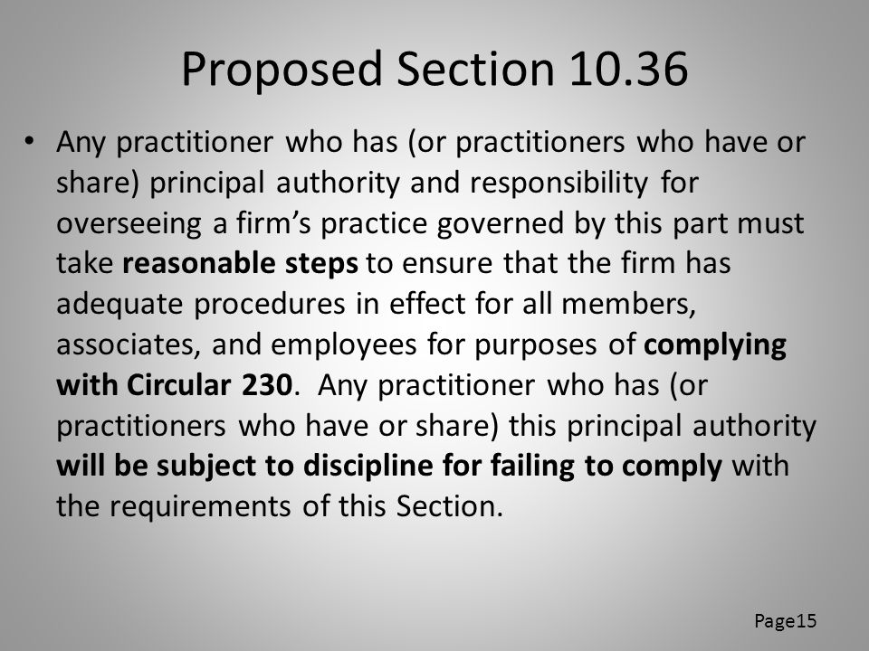 Proposed Section 10.36
