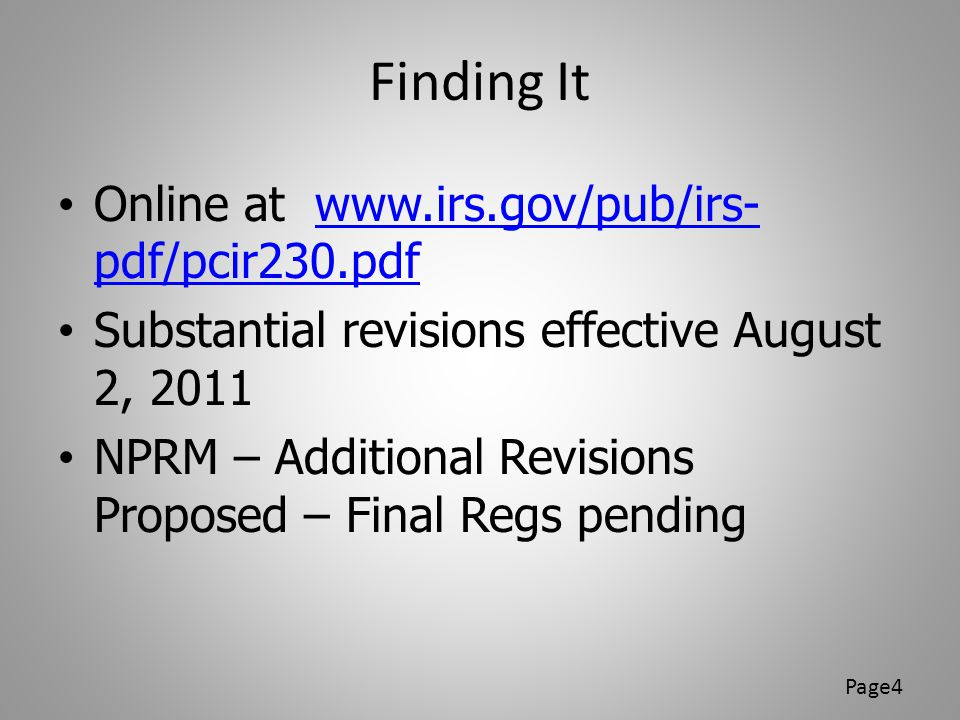 Finding It Online at www.irs.gov/pub/irs-pdf/pcir230.pdf