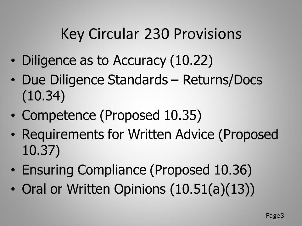 Key Circular 230 Provisions
