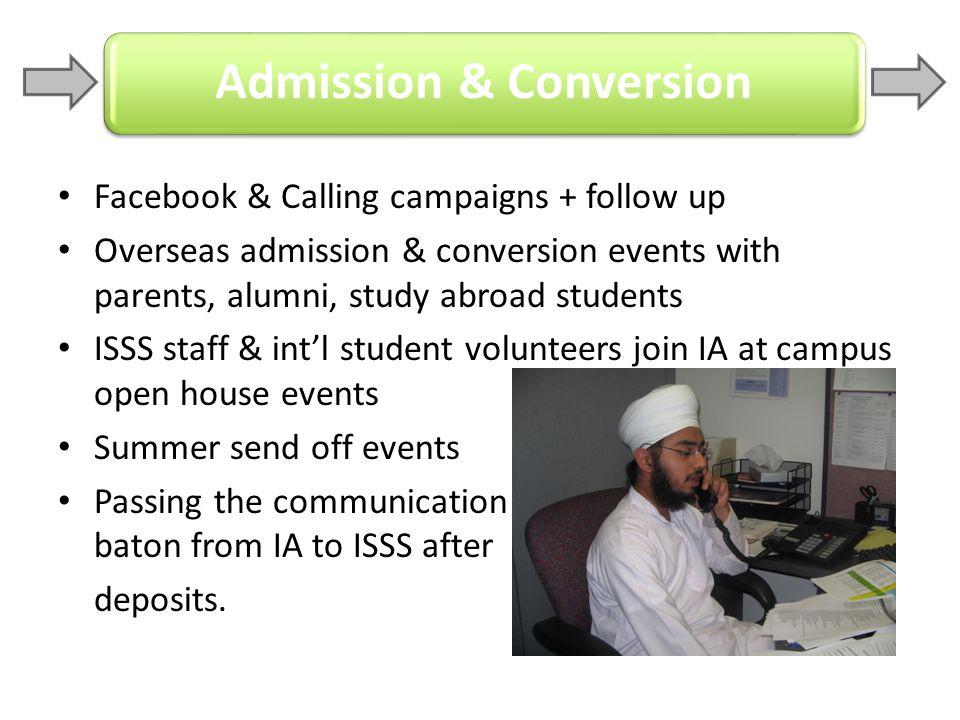 Admission & Conversion