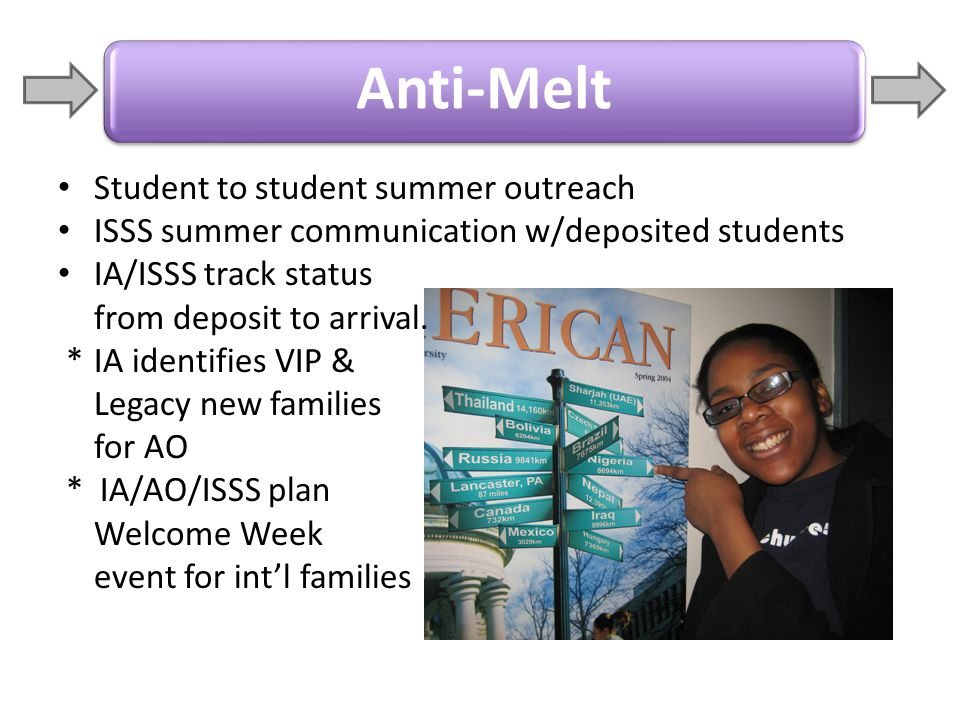 Anti-Melt Student to student summer outreach