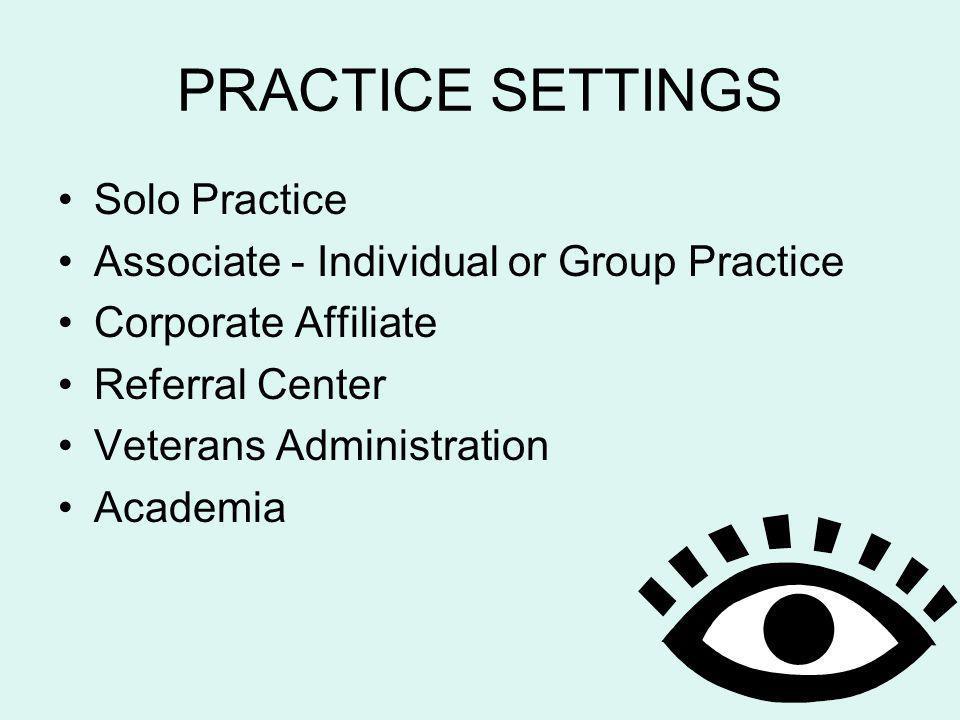 PRACTICE SETTINGS Solo Practice