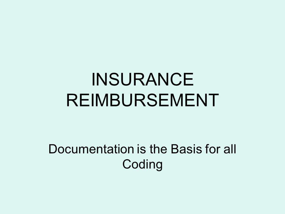 INSURANCE REIMBURSEMENT