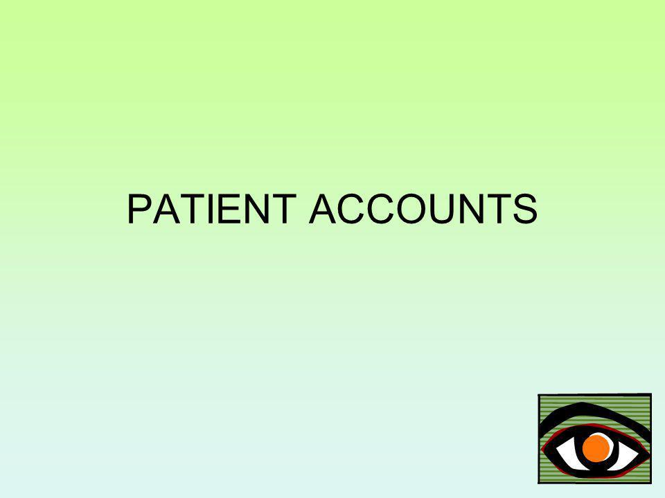 PATIENT ACCOUNTS