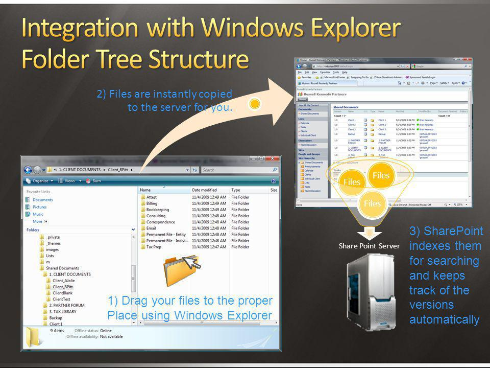 Integration with Windows Explorer Folder Tree Structure