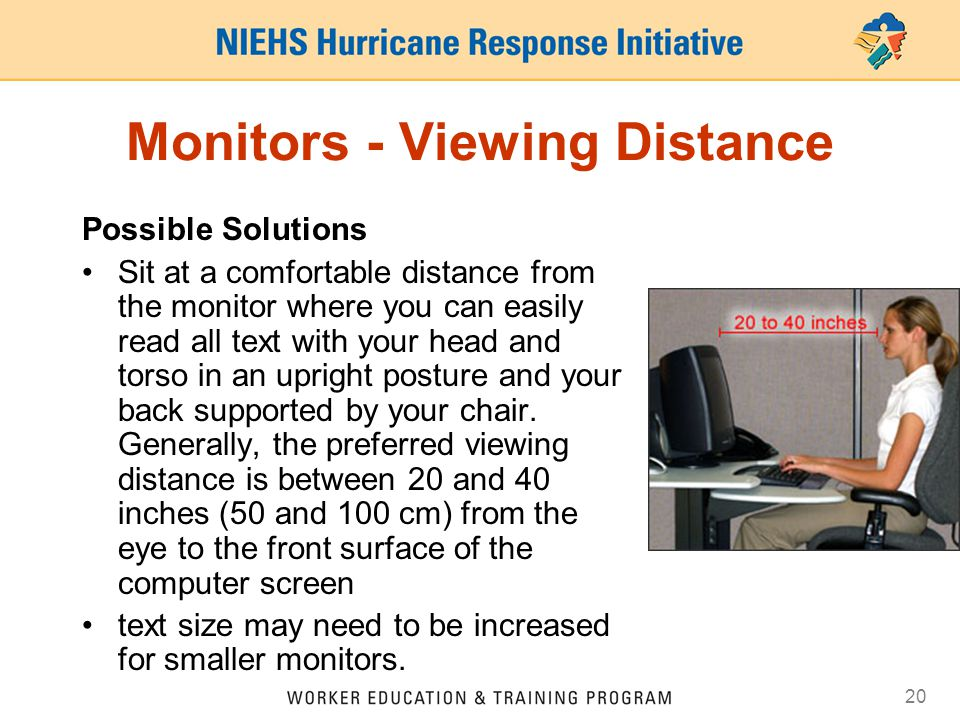 Monitors - Viewing Distance