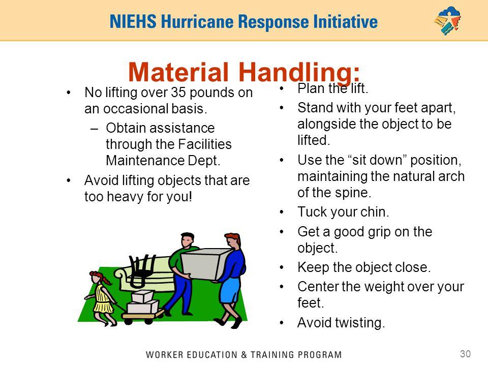 Material Handling: Plan the lift.