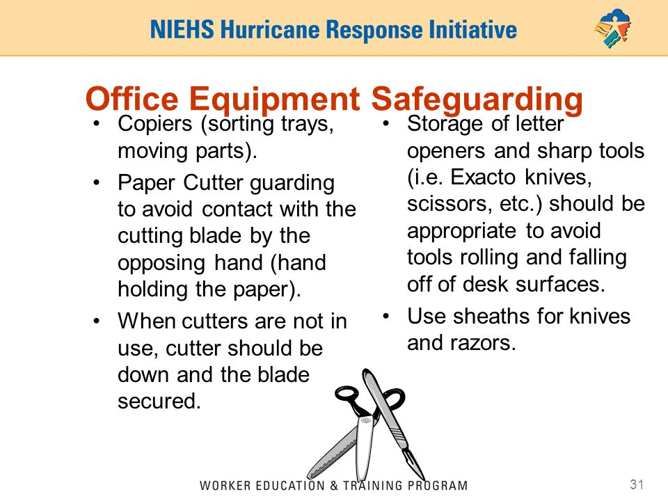 Office Equipment Safeguarding