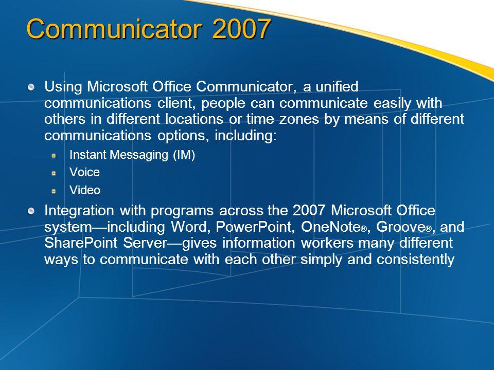 Communicator 2007
