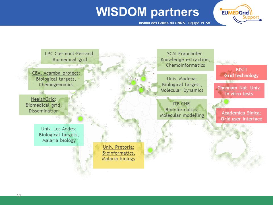 WISDOM partners LPC Clermont-Ferrand: Biomedical grid SCAI Fraunhofer: