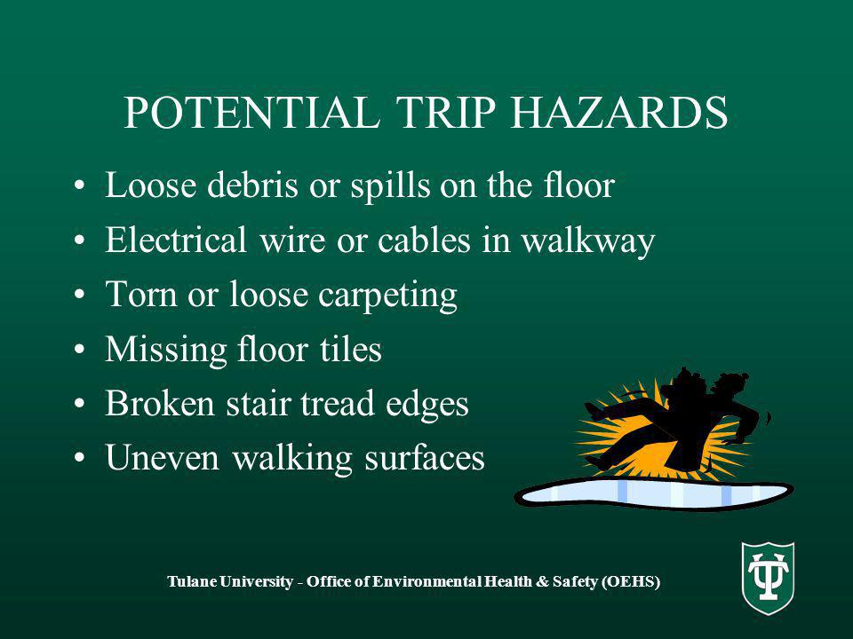 POTENTIAL TRIP HAZARDS