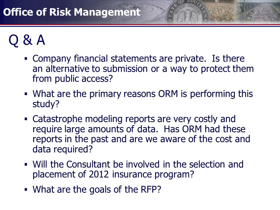 Q & A Company financial statements are private. Is there an alternative to submission or a way to protect them from public access