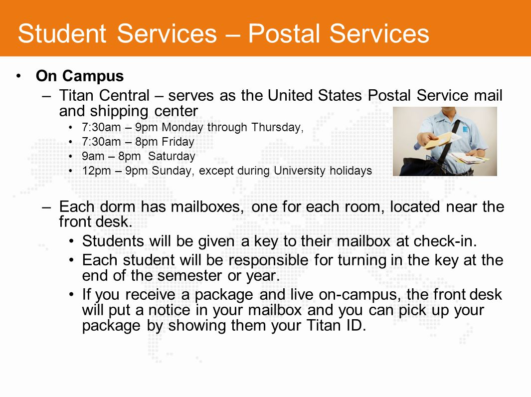 Student Services – Postal Services