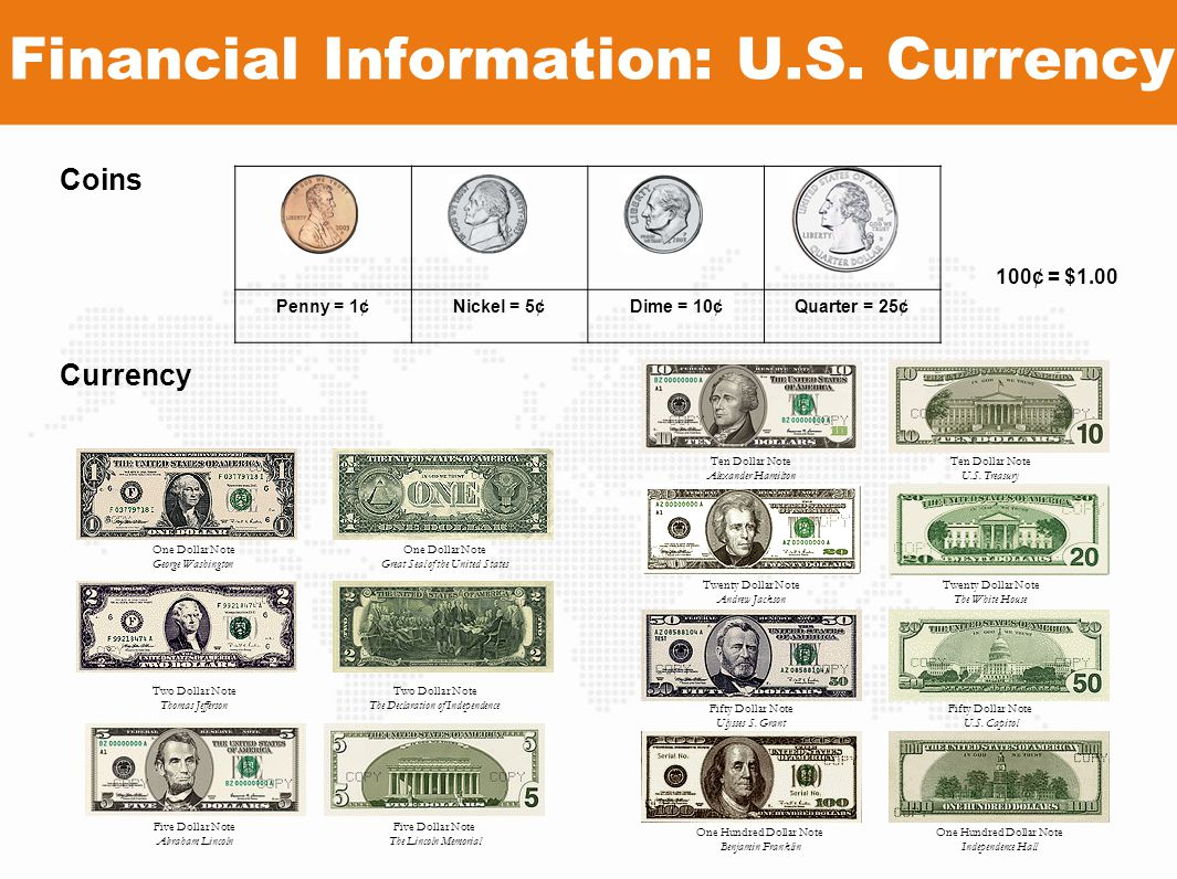 Financial Information: U.S. Currency
