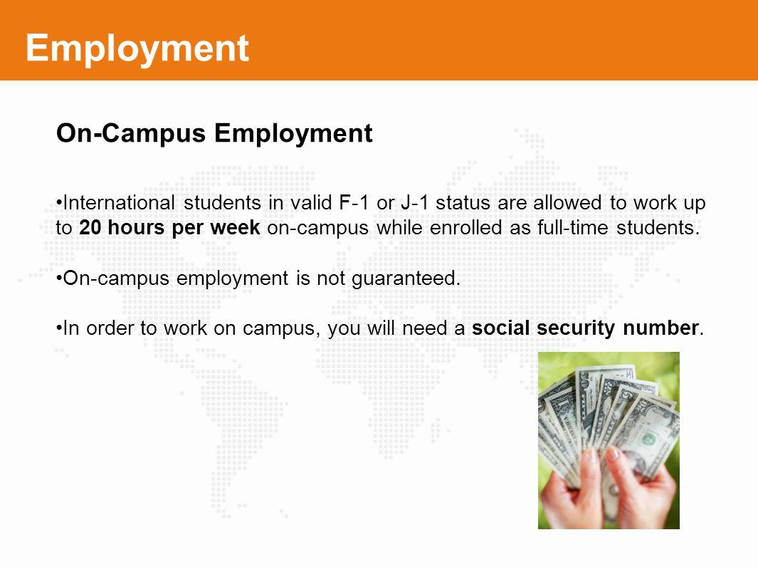 Employment On-Campus Employment