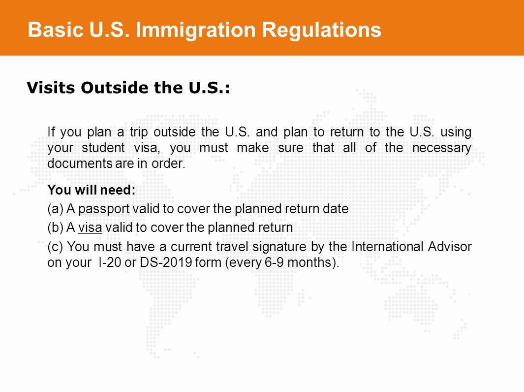 Basic U.S. Immigration Regulations