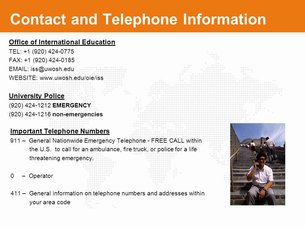Contact and Telephone Information