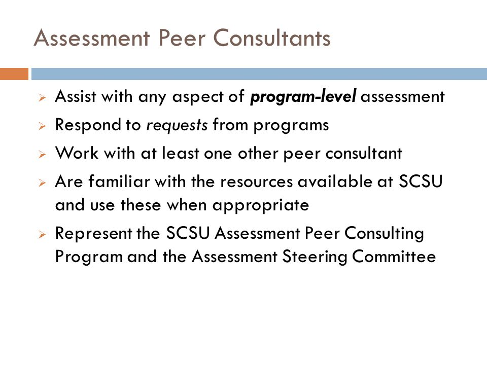 Assessment Peer Consultants