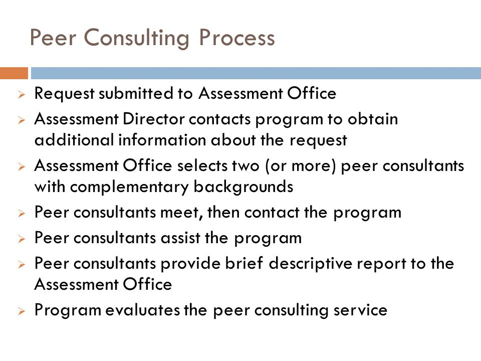Peer Consulting Process