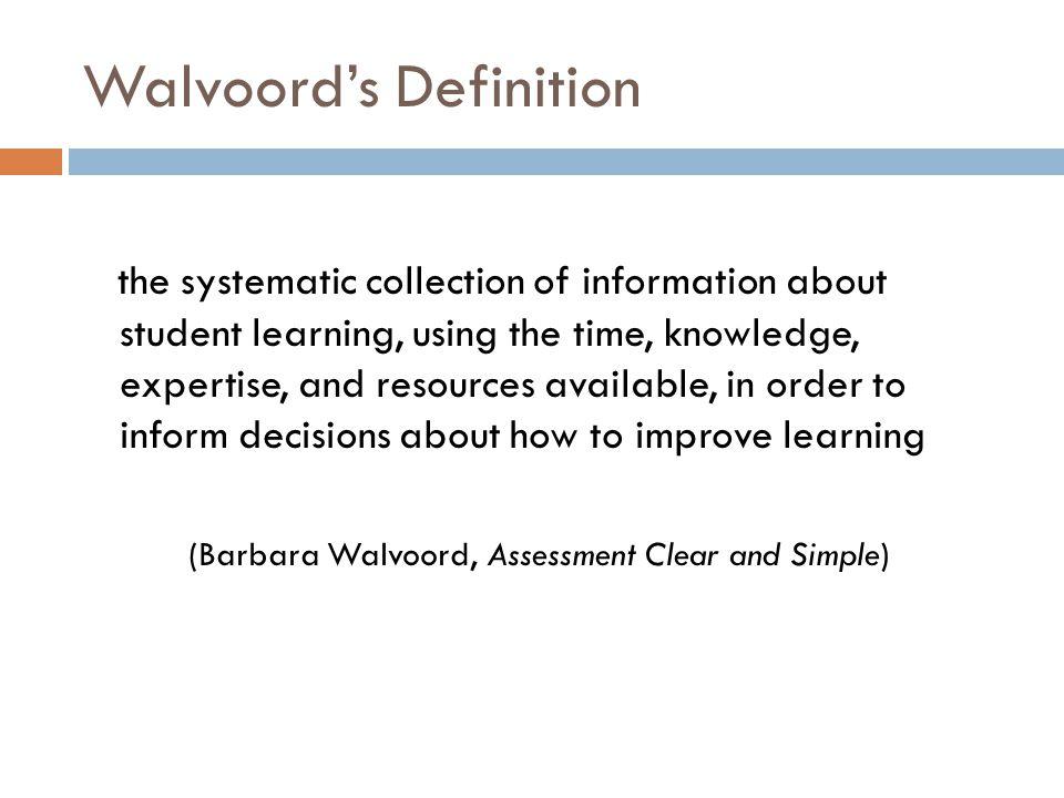 Walvoord's Definition