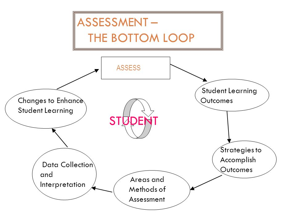 ASSESSMENT – THE BOTTOM LOOP STUDENT Outcomes
