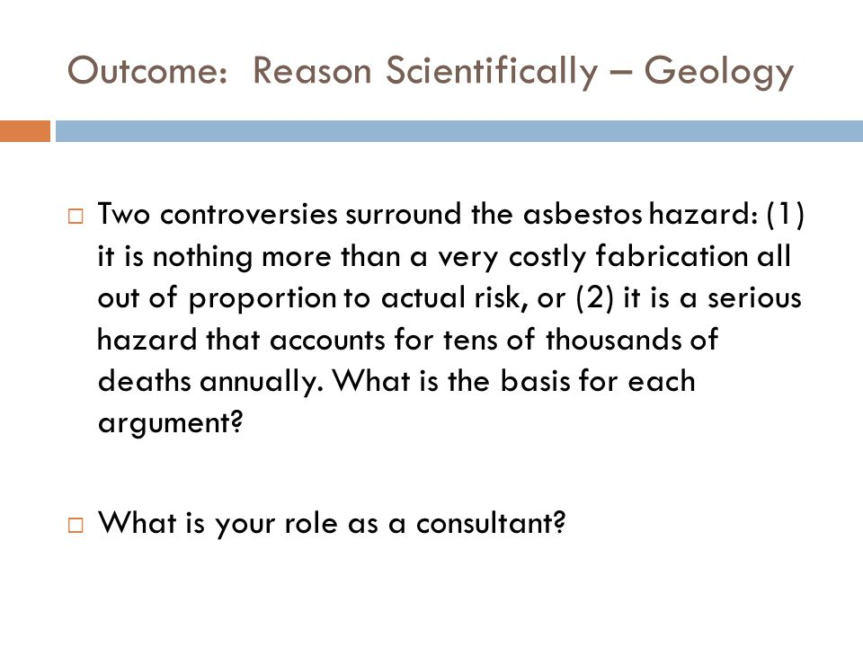 Outcome: Reason Scientifically – Geology