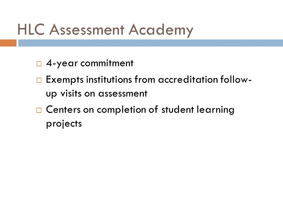 HLC Assessment Academy