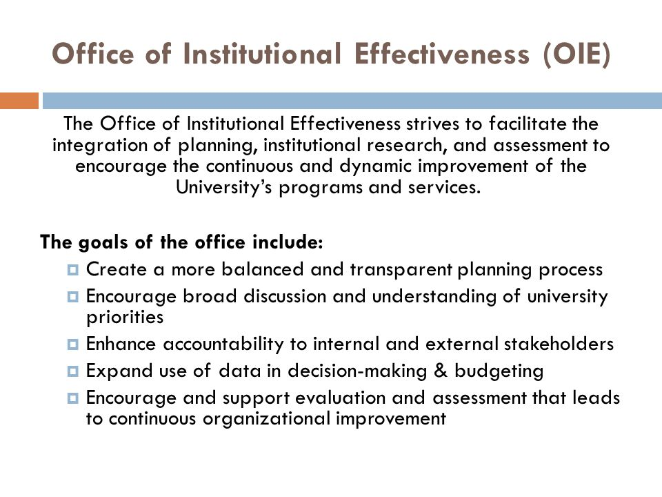 Office of Institutional Effectiveness (OIE)