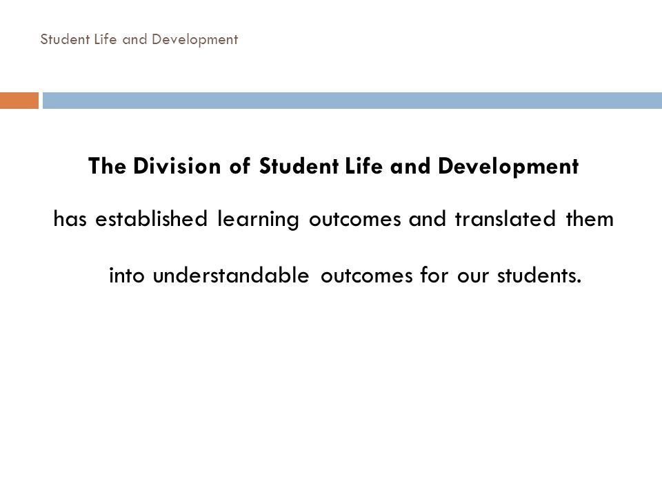 Student Life and Development
