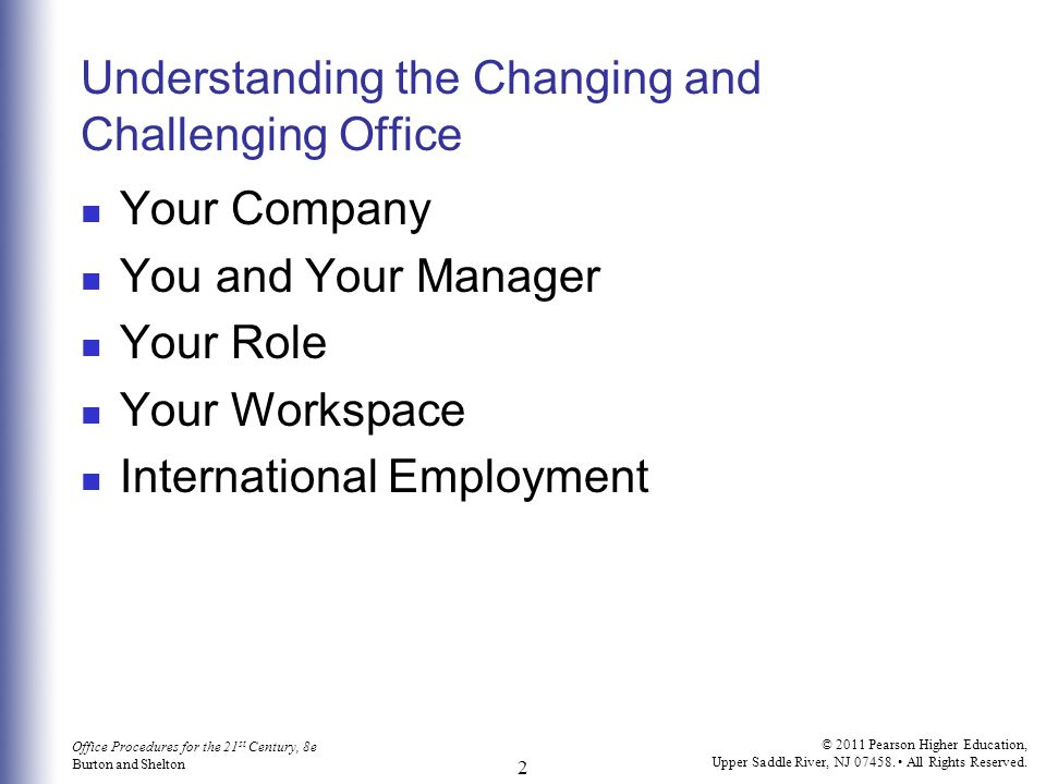 Understanding the Changing and Challenging Office