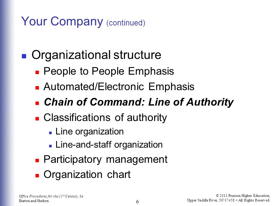 Your Company (continued)