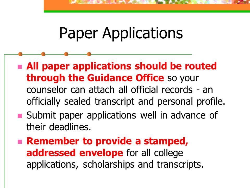 Paper Applications