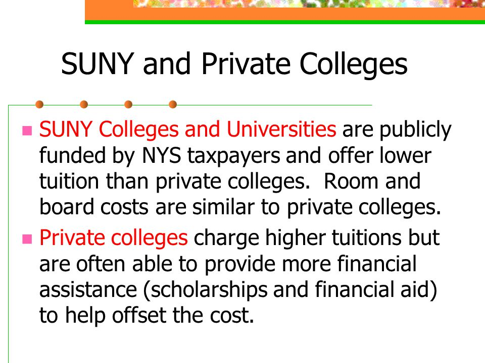 SUNY and Private Colleges