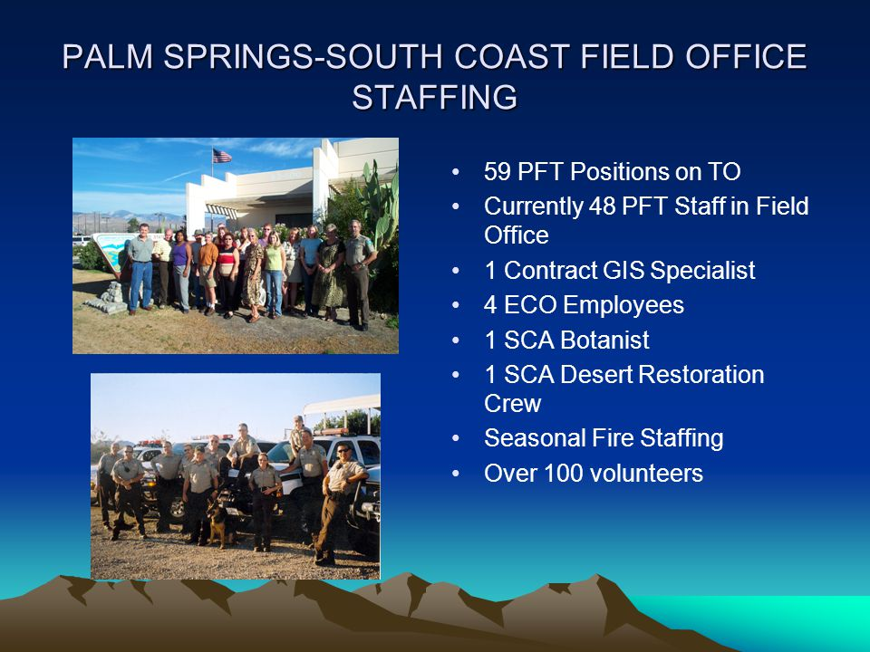 PALM SPRINGS-SOUTH COAST FIELD OFFICE STAFFING