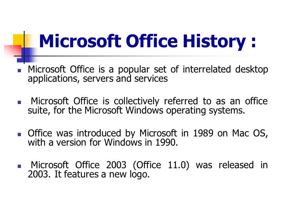 Microsoft Office History :