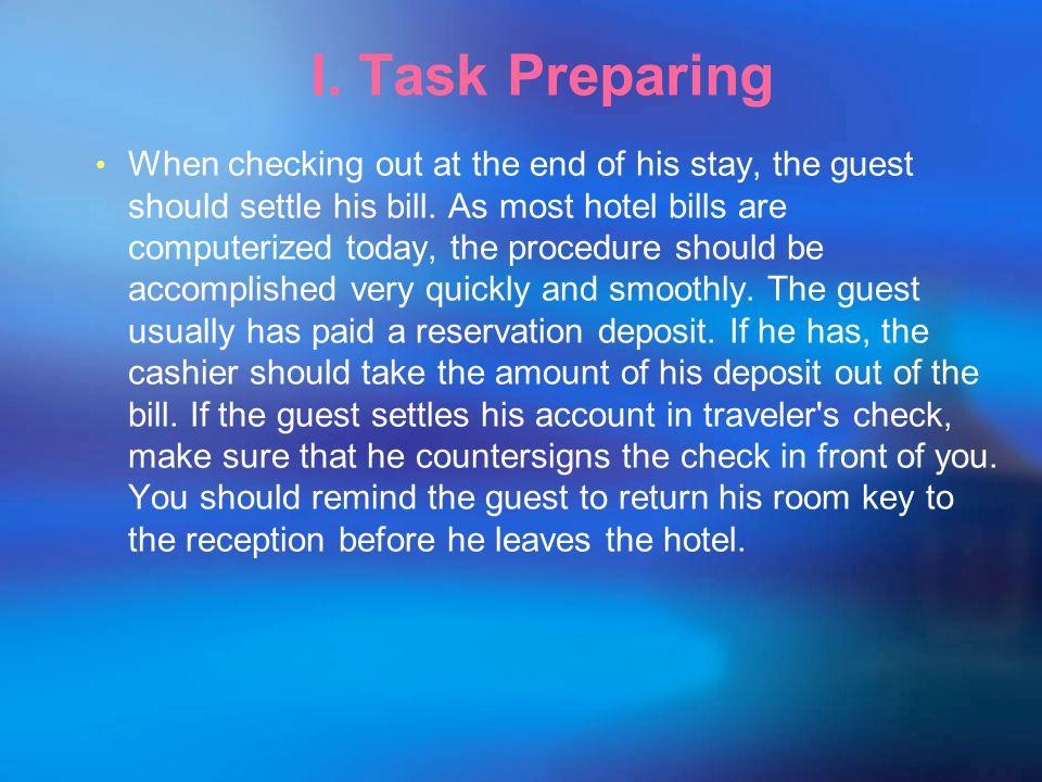 I. Task Preparing