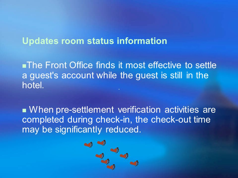 Updates room status information