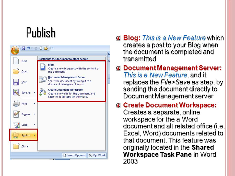 Publish Blog: This is a New Feature which creates a post to your Blog when the document is completed and transmitted.